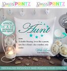 "16""X16"" PERSONALISED CUSHION NOUN AUNTIE MOTHERS DAY CHRISTMAS GIFT CANVAS AUNT"