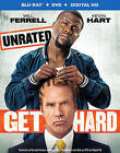Get Hard Unrated Will Ferrell Kevin Hart (Blu-Ray/DVD) Mint FREE SHIP + Slipcase