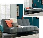 Gray Convertible Futon Sofa Bed Sofas Grey Couch Stainless Steel Legs Living NEW