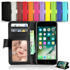NEW Wallet Flip Leather Stand Card Case Cover for Apple iPhone 7 Plus 7