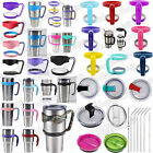 hot Handle Lid Straws For YETI For Rtic For Rambler Tumbler 20/30 Oz Travel Cup