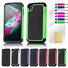 Dual Layer Shockproof Case Cover for Alcatel Phones + Screen Protector & Stylus