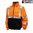 Hi-Vis Insulated Safety Bomber Reflective Jacket Coat HIGH VISIBILITY ORANGE