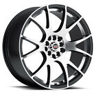 NEW(set of 4) 17x8 SPEC 2S rims 5x100 5x114.3 +38 black machined