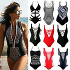 Sexy Womens One Piece Bikini Monokini Swimsuit Padded Backless Swimwear Beach FO