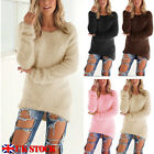 UK Womens Warm Long Sleeve Sweater Ladies Sweatshirt Jumper Pullover Tops Blouse