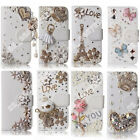 Wallet Case Cover 3D DIY Bling Crystal Diamond PU Leather For LG Phones