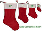 Handmade Plain felt Christmas Stockings