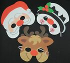 Father Christmas Reindeer Snowman Xmas foam mask masks FREE POST A51