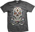 SALE Sugar Skull Day Of The Dead Dia De Los Muertos Mexican Goth Cool T-shirt