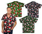 Funky Hawaiihemd Shirt  Herren Weihnachten Christmas Multi X-Mas Hawaii