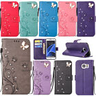 Bling Diamond Flip Leather Wallet Stand Case Cover For Samsung Galaxy S6/S7 Edge