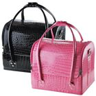 Crocodile Makeup Train Bag Handbag Case w/ Removable Tray Cosmetic Jewelry Opt