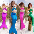 Hot Kids Girl Mermaid Tail Swimmable Bikini Set Infant Bathing Swimwear Swimsuit