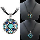 Women Vintage Jewelry Gold Silver Plated Bib Bead Crystal Pendant Necklace
