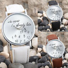 Hot WOMENS WATCH TRENDY LEATHER ALLOY ANALOG QUARTZ WRIST WATCH Chrismas Gift