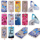Rubber Patterned Soft TPU Silicone Cute Painted Slim Cover Case For Samsung