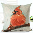 18'' Animal Birds Nest Pillow Linen Case Pillow Cover Sofa Cushion Cover Home De