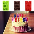 Silicone Alphabet Letter Ice Cream Biscuit Bake Tray Mold for Fondant Cake Decor