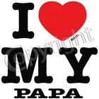 Papa I Love T Shirt Onesie Infant Toddler Youth Baby Shower gifts US size