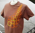 Narcotics Anonymous - Symbol Shower - Brown T-shirt w/ org&yellow ink NA - S-3X