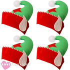 NOVELTY CHRISTMAS ELF HATS 4 PACK XMAS FANCY DRESS PARTY OFFICE WORK NOVELTY HAT