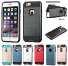 """BRUSHED Hybrid Rubber Skin + Hard Cover Case for Apple iPhone 6 6S Plus 5.5"""""""