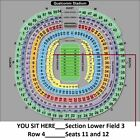 2 San Diego CHARGERS vs. Oakland RAIDERS tickets_12-18-2016__Section LF 3__Row 4