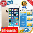 in Sealed Box Factory Unlocked APPLE iPhone 5S Gray Gold Silver 4G Smartphone