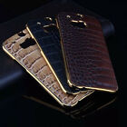 Stylish PU Leather Case Back Protective Hard Cover Skin For Samsung Galaxy HTC