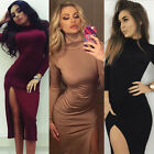 Women's Stretch Long Sleeve Bodycon Pencil Evening Party  Ladies Bandage Dress