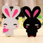2pcs Embroidered Cloth Iron On Patch Motif Applique Sew Couple Cute Rabbit LACA