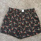 """Mens American Eagle Flannel BOXERS """"REINDEER"""" Horns on can Underwear M, L, XL"""