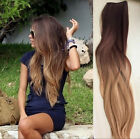 """100% Real Full Head Clip in Human Hair Extensions Remy Ombre Straight 18"""" Blonde"""