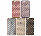 Pretty Quilted Vintage Retro Chrome Pattern Cushion Case iPhone 5/s/SE 6/s