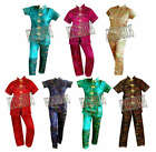 New Beautiful Womens TOILE Pajamas Set Traditional Chinese Embroidered PJ Sz 2X