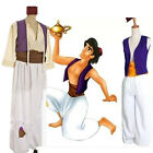 Halloween Cosplay Animation Aladdin Prince T-Shirt Mens Pants Costume Outfit