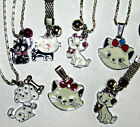ARISTOCAT 101 DALMATION CAT DOG GIRLS ENAMEL SILVER NECKLACE KEYRINGS