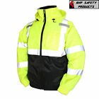 Hi-Vis Insulated Safety Bomber Reflective Jacket ROAD WORK HIGH VISIBILITY  фото