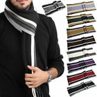 New Cool Men's Boys Cashmere Shawl Winter Warm Fringe Striped Tassel Long Scarf
