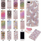 Rubber Pattern Soft TPU Silicone Clear Painted Ultra Slim Case Cover For Phone