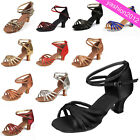 Women Girl Ballroom Latin Tango Dace Dancing 5cm Shoes Heeled Salsa  11 Colors