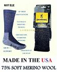 2 or 4 Pairs Mens Browning 75% Soft Itch Free MERINO Wool Thermal Boot Socks  LG