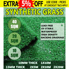 10-40 SQM Artificial Grass Synthetic Turf Plastic Plant Fake Lawn 10MM 15MM