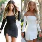 Sexy Women Bandage Bodycon Long Sleeve Evening Cocktail Party Short Mini Dress