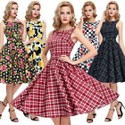 1950s Retro Vintage Cotton Party Picnic Dress 23 Patterns Sleeveless Dresses