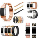 Replacement Stainless Steel Metal Watch Band Wrist Strap For Fitbit Charge 2