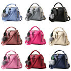 Fashion Women's New Handbag Shoulder Bag With Hair Ball Soft Faux Leather Tote