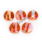 Lampwork Loose 20pcs Faceted Glass Crystal Twist Tile Beads Spacer Finding 18mm