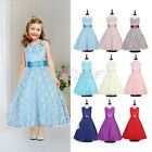 Kids Birthday Communion Pageant Wedding Princess Party Formal Flower Girl Dress